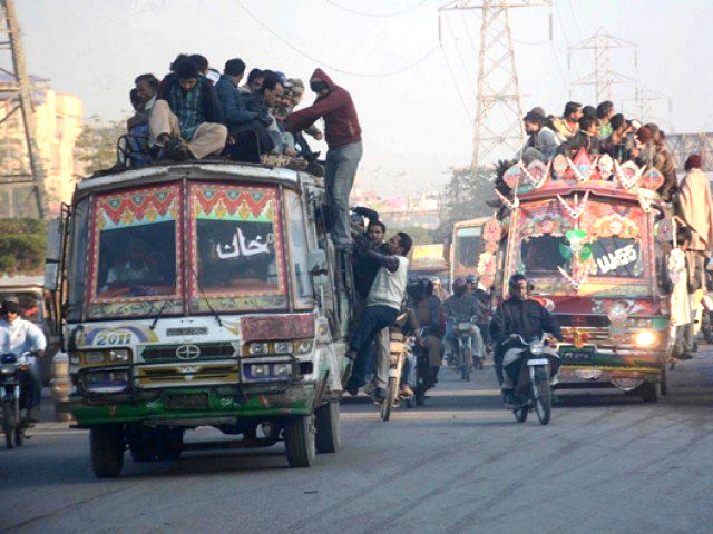 Commuters pay a significant amount of their income because of continuous increase in the cost of CNG. PHOTO: FILE