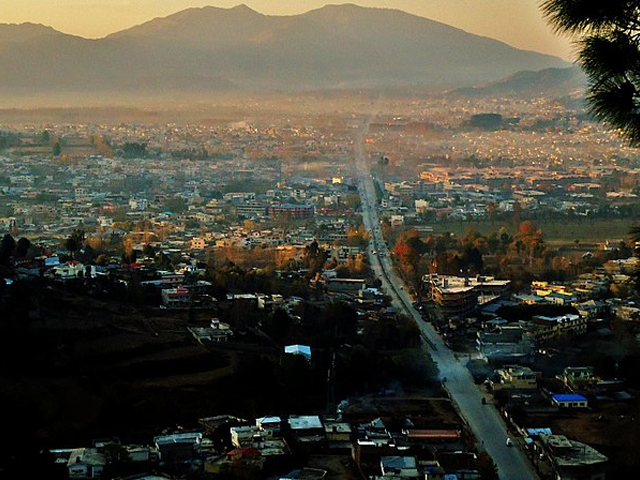 Exotic view of Abbotabad through one of hills which surround this beautiful valley. PHOTO: AMARJAJJA/ WIKIPEDIA