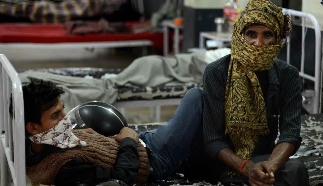 A tuberculosis patient at the Rajan Babu Tuberculosis Hospital in New Delhi. PHOTO: AFP
