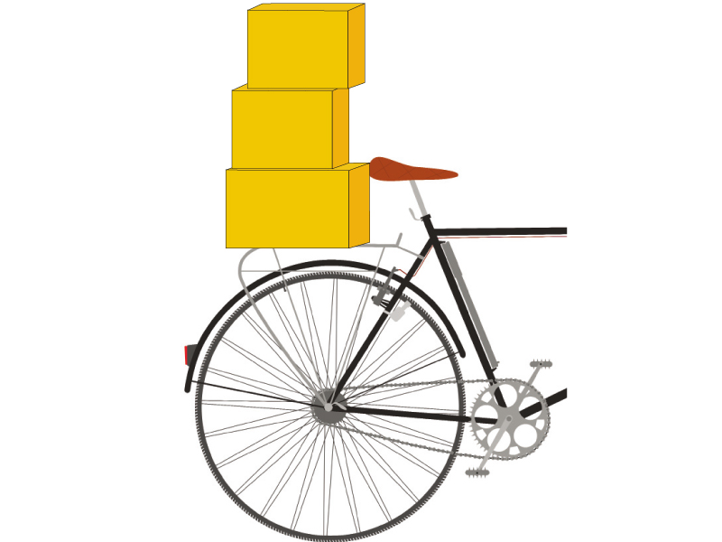 Cyclists take smuggled goods to bus stands to transport to other cities  DESIGN: TALHA KHAN