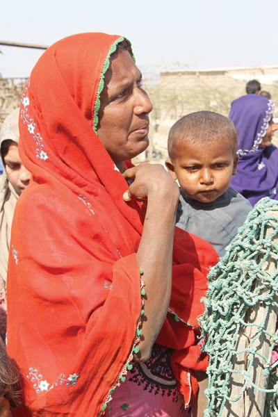 The women and children of Haji Yusuf Katiyar village have been left to fend for themselves. PHOTO: AYSHA SALEEM/EXPRESS