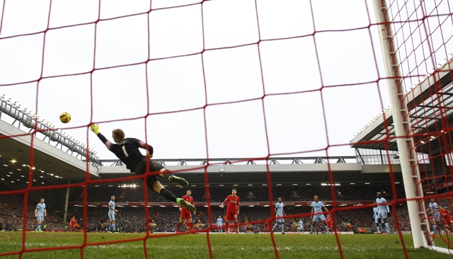 Wonder Strike: Phillipe Coutinho scored a cracker in Liverpool's 2-1 win over Manchester City, following his similarly splendid strike against Southampton, to cap off the best goal of the week. PHOTO: REUTERS