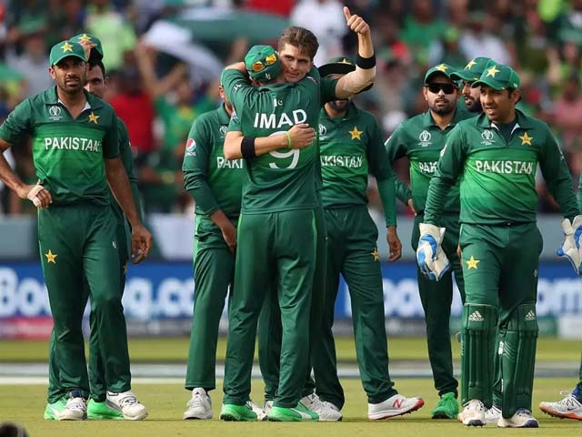 Pakistan's Shaheen Afridi celebrates after taking the wicket of Bangladesh's Mahmudullah during their CWC19 clash. PHOTO: GETTY