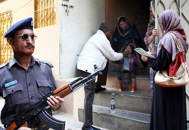 The fight against polio must be carried out on a war footing and any additional security resources deployed for it are being put to good use. PHOTO: ONLINE