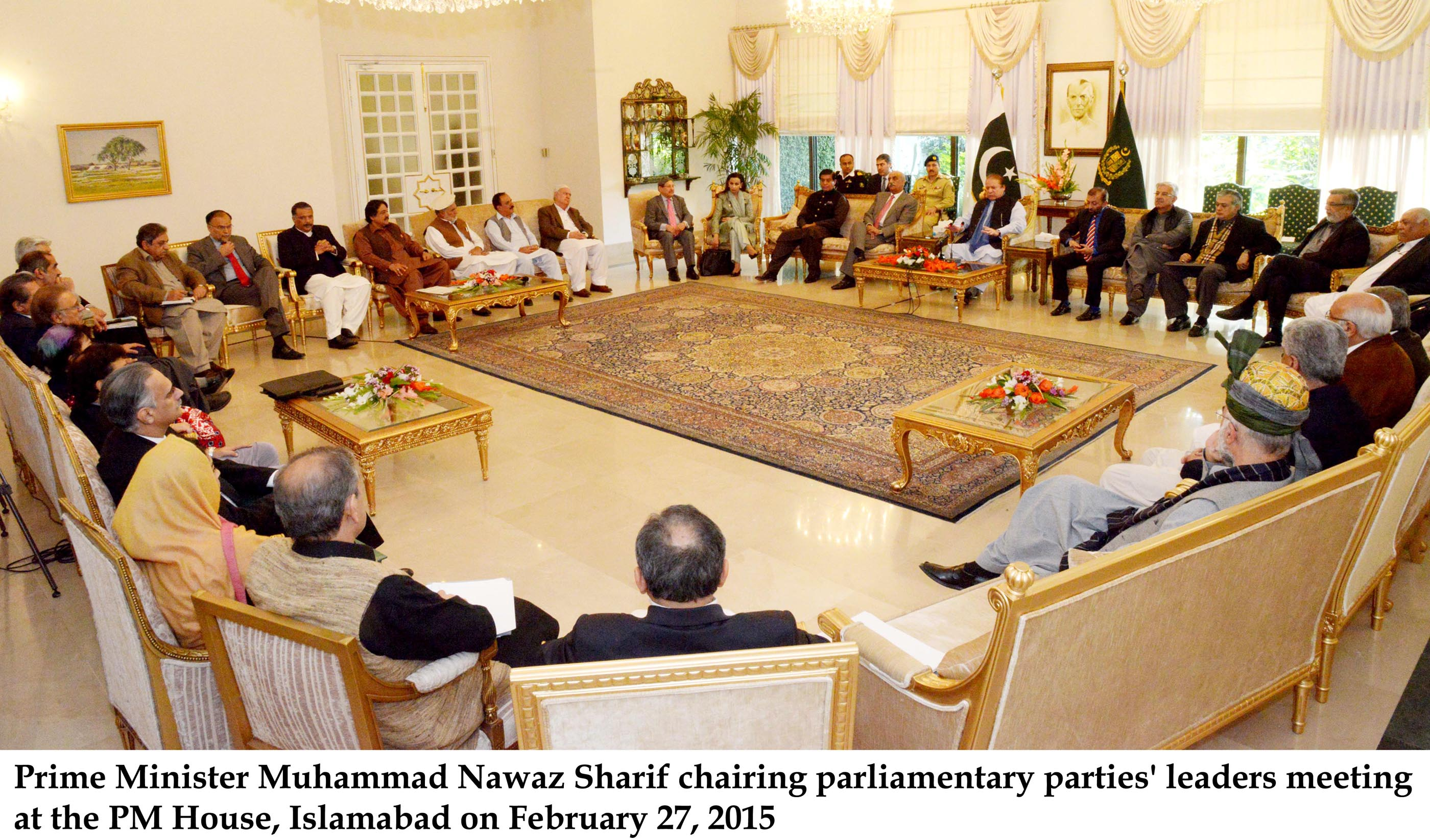 Wattoo told reporters after the meeting that the PPP had a clear stance on the matter and advocated the necessity of seeking out a solution through negotiations. PHOTO: PID