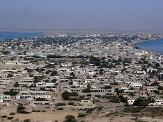 The residential area of Gwadar port in the Arabian Sea. PHOTO: AFP