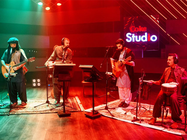 Although they've been around for a while, Khumariyaan's gig on Coke Studio  garnered quite a lot of attention. PHOTO: TWITTER/KHUMARIYAAN