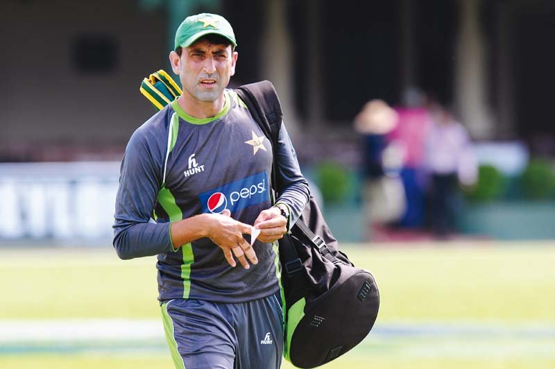 Younus, who becomes only the fifth Pakistan cricketer to reach the 100-Test landmark, is third on the all-time Test top scorers for the men in green. PHOTO: AFP