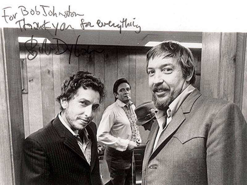 Bob Johnston (R) produced famous albums such as  Bob Dylan's (L) Blonde on Blonde. PHOTO: FILE
