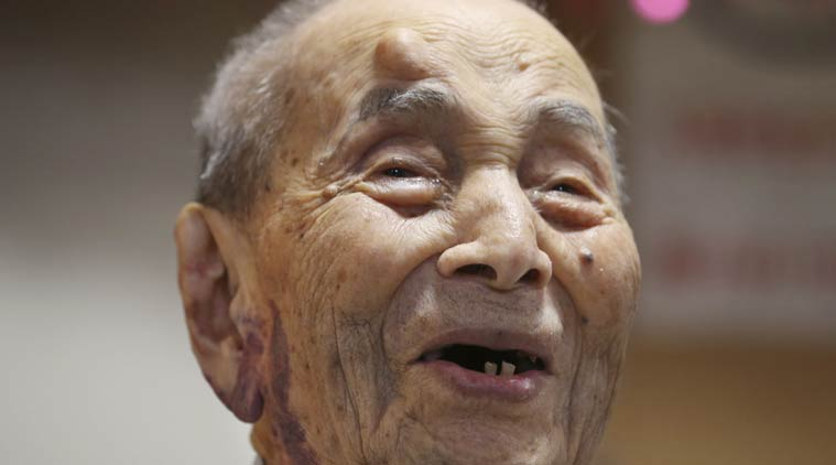 Koide was born on March 13, 1903, and worked as a tailor. He became the oldest man with the death of Sakari Momoi of Tokyo in July at age 112. PHOTO: ASSOCIATED PRESS