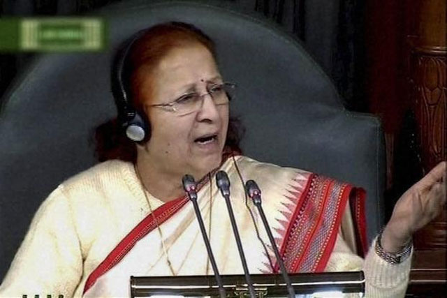 Pakistan is not focused on development, does not think about its citizens, says Lok Sabha speaker. PHOTO: PTI
