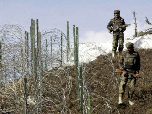 A file photo of Indian security forces across the LoC. PHOTO: AFP