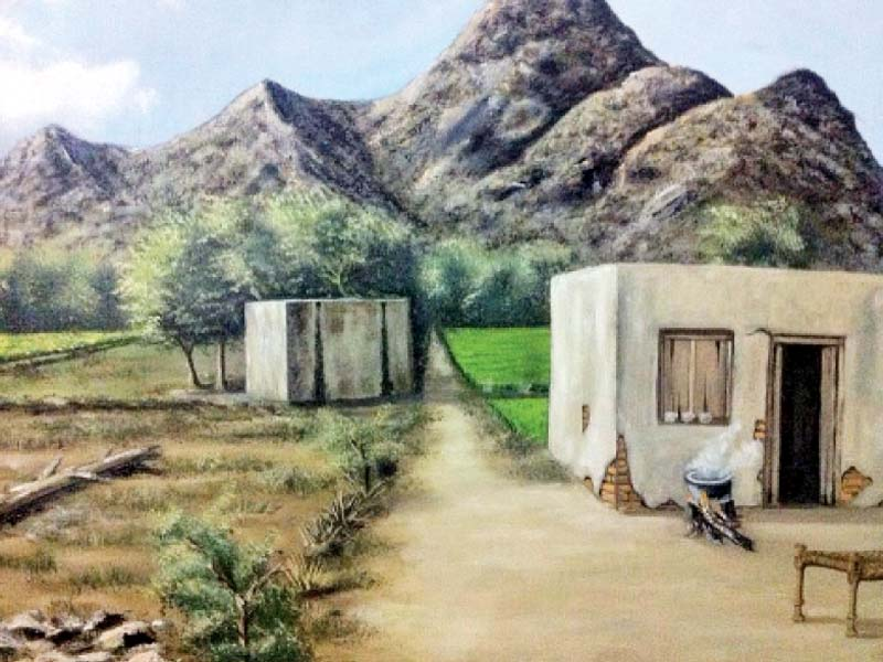 Babar Salman's paintings capture the beauty of nature and cultural life of Swabi as realistically as possible. PHOTOS: EXPRESS