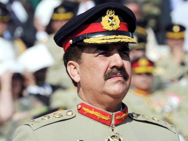 Army Cheif General Raheel Sharif. PHOTO: ISPR