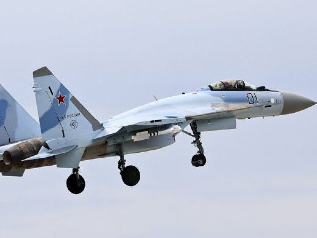 Russian Su-34 planes struck an IS training camp near the village of Maadan Jadid, 70 kilometres east of Raqa city. PHOTO COURTESY: RUSSIANPLANES.NET