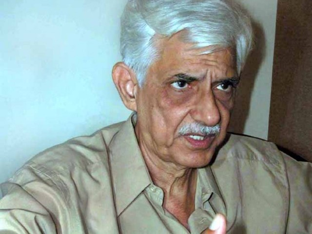 Senator Taj Haider will table a bill aiming at limiting centre's jurisdiction in the provinces. PHOTO: ONLINE