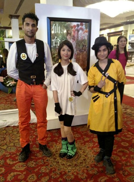 Many participants dressed up as their favourite anime characters. PHOTO: EXPRESS